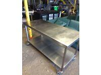 Stainless steel prep table