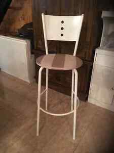 Kitchen counter / bar stools with back - recovered like new Kitchener / Waterloo Kitchener Area image 1