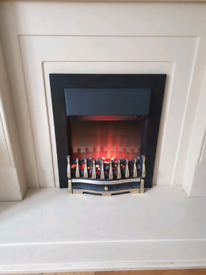 Electric fire Victorian style coal