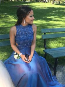 two-piece sherri hill prom dress