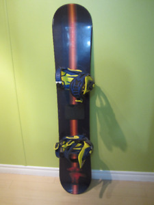"""58"""" Cobble Snowboard with bindings in good condition"""