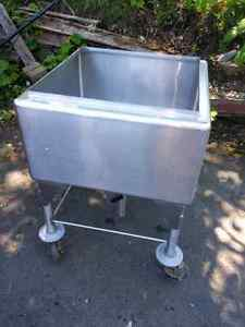 Large commercial stainless steel sink Fredericton New Brunswick image 1