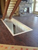 Quality hardwood and laminate install