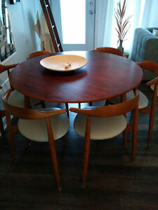 Set de cuisine mid century/ Danish table set teak