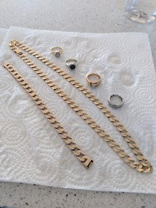 gold Chain and bracelet for sale 100g total
