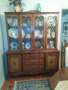 Great Condition Large Wooden Hutch and China Display Case!