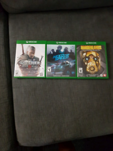 The witcher wild 3 , need for speed, borderlands