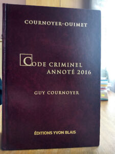 Code criminel annoté 2016 + CD-ROM + Table des infractions
