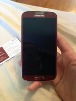 Samsung Galaxy S4 Red!! Mint!! Trade for iPhone 5c/ 5s