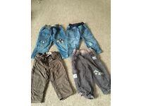 Boys tu jeans and trousers 9-12 months