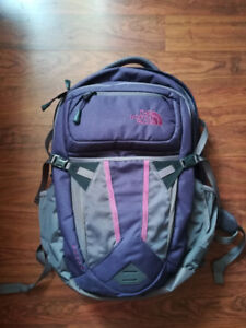 The North Face Women's Recon Backpack- Purple, used