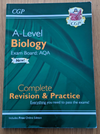 GCSE and A-level biology revision books