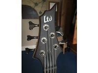 LTD ESP F-5E 5 string bass