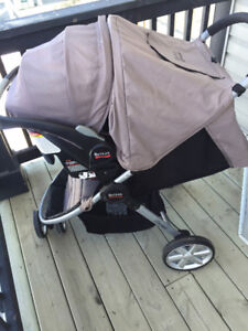 cleaned TOP rated britax b safe car seat and agile stroller