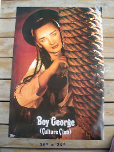 BRAND NEW 1982 VINTAGE BOY GEORGE POSTER