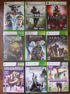 XBOX 360 Games Trade For PS3 or 5$ each