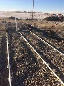 Acreage development and septic install