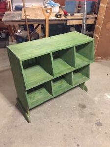 Solid wood display or storage piece