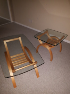 Glass Top Coffee and End Tables
