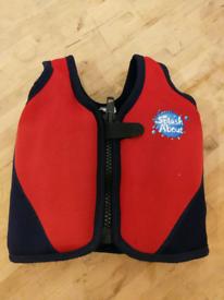 Splash About Water Babies Swim Buoyancy Vest Jacket Navy Red Age 1-3