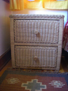Attractive Rattan Chest with 2 Deep Drawers