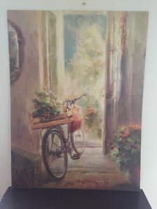 BICYCLE PAINTING, 30 x 40 inches