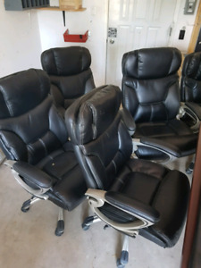 High back leather desk chairs