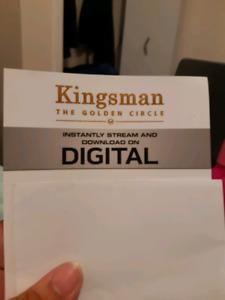 Kingsman The Golden Circle HD Blu- Ray Code!