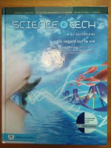 Science tech au secondaire, 2e cycle, 1er année - Volumes 1 et 2