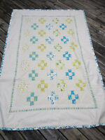 Pretty Lime Green and Teal Quilt - Great Christmas Present