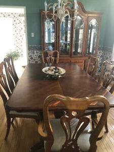 REAL Chinese Rosewood Dining Table and Cabinet Set