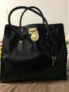 Barely Used Michael Kors Large Hamilton Patent Leather Tote