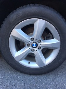 BMW Used Rims & Used Winter Tires 255/55 R18 Dunlop Grandtrek W2