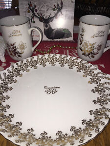 50 Anniversary Plate Cups and Pastry Tray