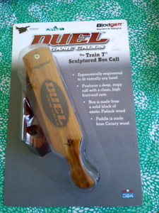 New DUEL Game Calls The Train 7 inch Sculptured Turkey box call