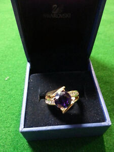 14 Karat Gold Ring with purple stone $650 ...Valentines is comin