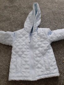 Love baby blue quilted jacket age 2