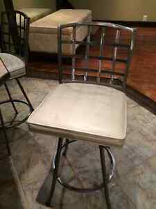 Silver/Leather Bar Stools