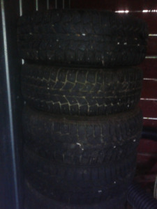 Winter tires on rims, with great tread! R14