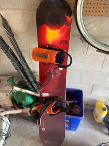 Used Snowboard, Bindings + Boots Great Condition