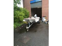 Dory 13 with 40 bhp Suzuki outboard & fish finder & great road trailer