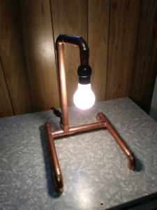 Custom copper lamp