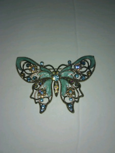 Blue Butterfly Avon Pin