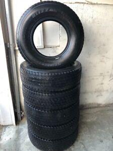 6 LT225/75R16 inch Bridgestone Blizzak W965 10 ply winter tires