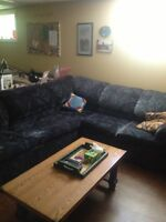 A sectional couch