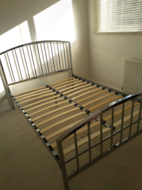 Chrome double bed frame