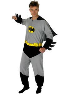 Adult Batman Onesie Costume Men's Medium Plus Mask
