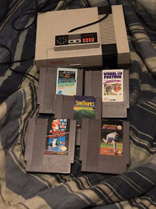 NES system with 5 fully refurbished games