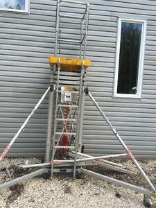 Air lift ladder