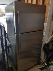 """GE Stainless Steel Refrigerator  66"""" H x 30""""W"""